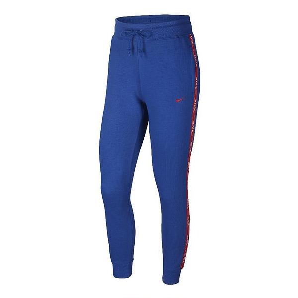 Nike AS W NSW 女子 藍紅 舒適 鬆緊 縮口 抽繩 路跑 健身 重訓 運動 長褲 AR3075-438