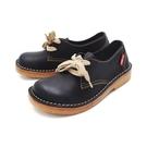 【南紡購物中心】WALKING ZONE (女)大圓頭麵包鞋 休閒女鞋-黑(另有咖)