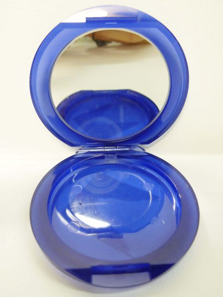 【震撼精品百貨】Holly's Bear 泰迪熊~口紅盒口紅盤附鏡子『藍白格子』