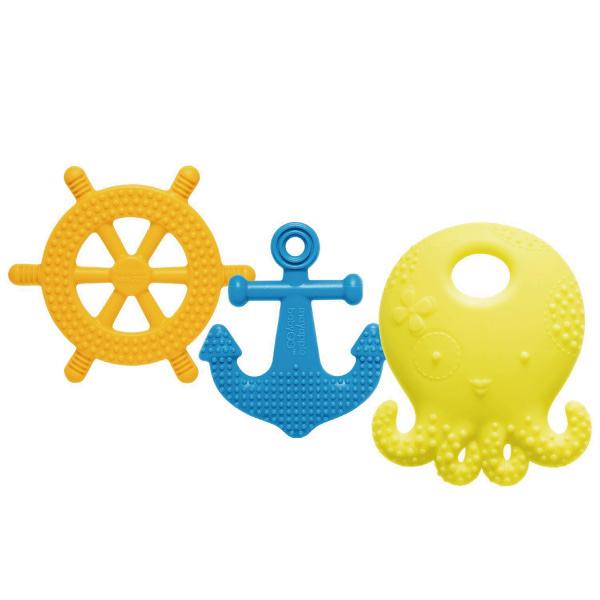 美國 Mayapple Baby 固齒器玩具組 (航海章魚/檸檬色系)