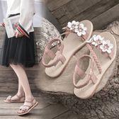 羅馬涼鞋仙女風涼鞋女學生2019夏季新款女鞋韓版百搭沙灘鞋平底厚底羅馬鞋 貝芙莉