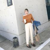 大尺碼女裝好康推薦秋季新款韓版女裝胖mm大碼寬松一字領兩穿長袖針織上衣
