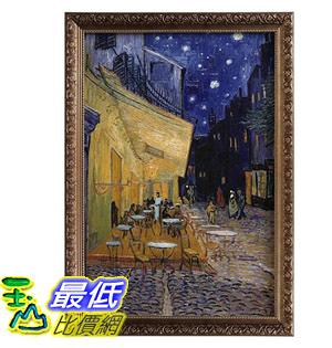 [COSCO代購] W123495 梵谷-夜晚露天咖啡座油畫裱框60*90cm