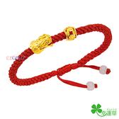 黃金編織手鍊-豐財貔貅-GL064