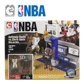 【C3 TOYS】超可動積木人偶 NBA系列 1對1半場套組 戴維斯vs波許 21539