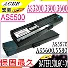 ACER 電池-宏碁 ASPIRE 3030, 3050,3200,3300,3600,5500,5560,5570,5580,BATEFL50L6C40,BATEFL50L6C48