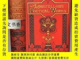 二手書博民逛書店1877年出版罕見Poetical Works of Longf