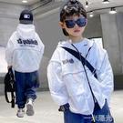 兒童防曬衣2021夏季新款男童外套防曬衫透氣薄款大童男孩防曬服 一米陽光