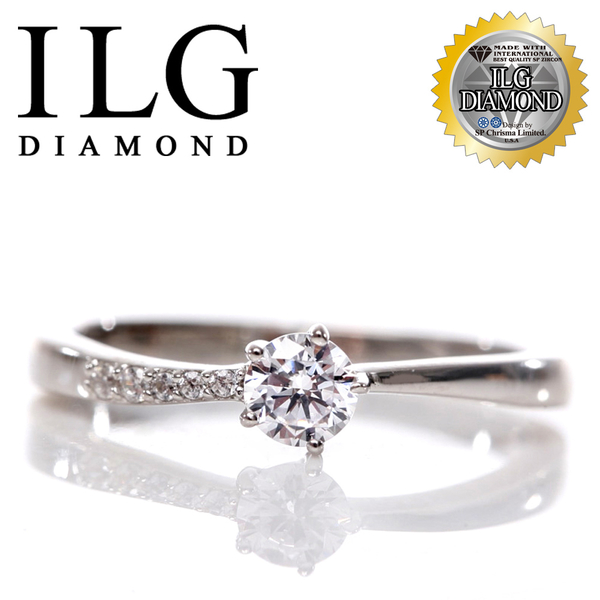 【頂級美國ILG鑽飾】頂級八心八箭鑽石戒指- 20分Love traveler 小資入門款  RI108