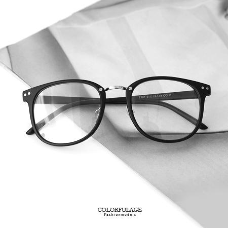 平光眼鏡 中性款大方型膠框造型 穿搭加分配件 橡膠軟鼻墊 鏡片可拆 柒彩年代【NY316】單支價格
