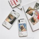 截圖小卡片搭配蘋果x手機殼iphone7plus/6s透明軟殼7/8情侶款 露露日記