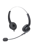 耳麥 杭普Q502 電話耳機客服耳麥 話務員頭戴式雙耳電銷外呼專用 固話座機手機電腦USB帶話筒 薇薇