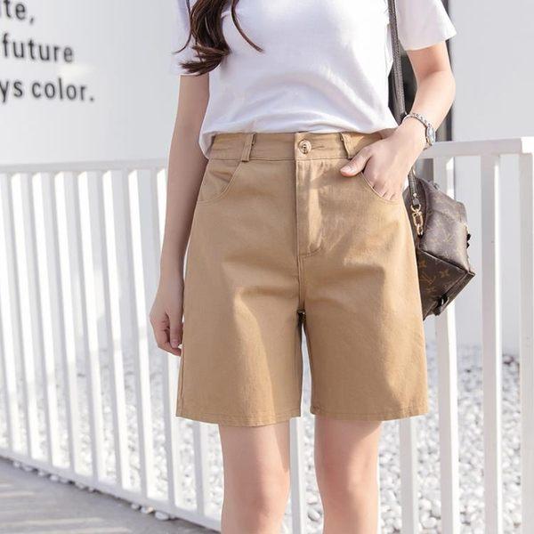 森雅誠品 bf風休閒褲女純棉中褲大碼學生寬鬆短褲女褲顯瘦直筒五分褲