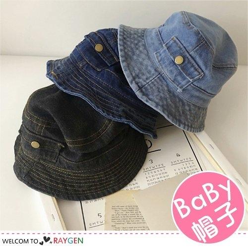 帥氣兒童口袋造型牛仔帽 遮陽帽 漁夫帽