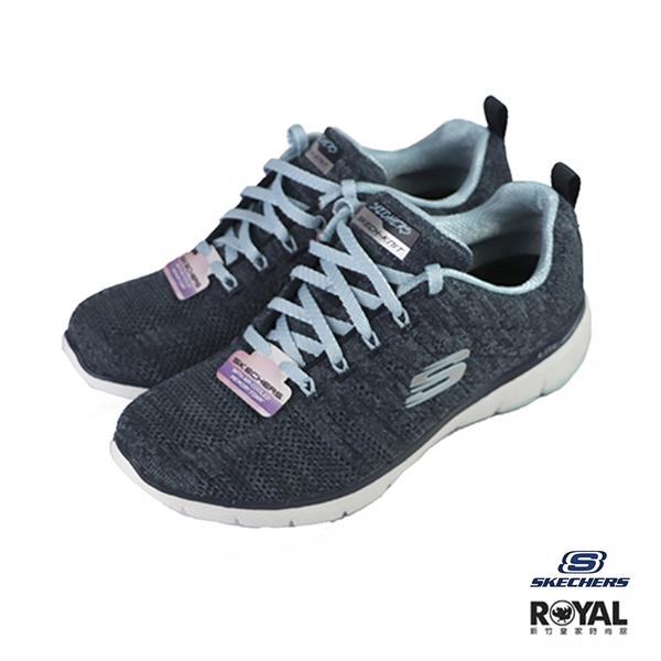 Skechers Flex 藍色 織布 運動休閒鞋 女款 NO.J0045【新竹皇家 13077NVBL】
