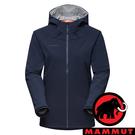 【MAMMUT 長毛象】Sapuen女防風軟殼連帽外套『海洋藍』1011-01060 登山 外套 羽絨 保暖 禦寒