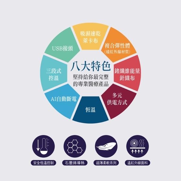 【福健佳健康生活館】WELL-DAY晶晏動力式熱敷墊-石墨烯溫控熱敷(多部位)WD-GH321
