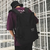 街拍書包男女韓版校園初中高中學生簡約bf風背包ins超火的雙肩包 雙十二全館免運