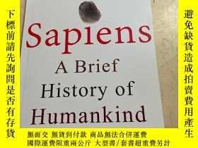 二手書博民逛書店SAPLENS罕見A BRIEF HISTORY OF HUMANKIND人類簡史Y25607 SAPLENS
