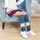 襪套 撞色 拼接 粗毛線 針織 保暖 襪套 運動 長筒 襪子【FS051】 icoca  10/25