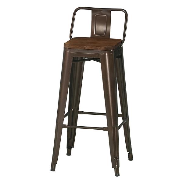 【森可家居】凱斯吧椅(板) 8CM1045-9  餐椅 休閒