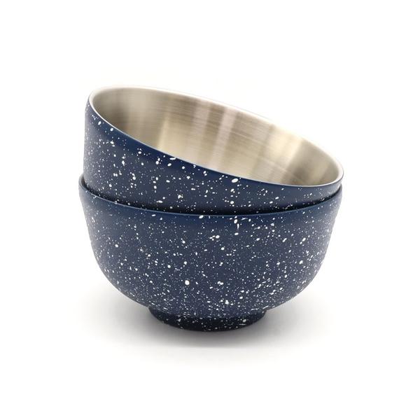 ADISI 星空點點真空不鏽鋼碗 AS20063 (2入) / 城市綠洲 ( 隔熱碗 備料碗 湯碗 餐具 )