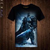 2017新品DOTA2印花短袖T恤 電競游戲龍騎士體恤 刀塔戰隊個性上衣