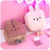 可愛粉少女心化妝包小號便攜韓國簡約INS軟妹洗漱品收納包袋隨身 挪威森林