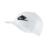 Nike 帽子 Classic 99 Cap Swoosh Flex 男女款 全封帽 棒球帽 白 黑【PUMP306】 891279-100