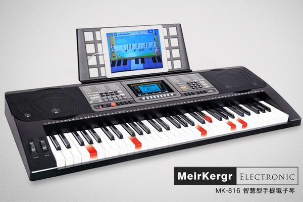 小叮噹的店 - 新型APP 電子琴 標準61鍵(買1送14) MK-816 平板手機MIDI連接 鋼琴厚鍵 發光鍵盤