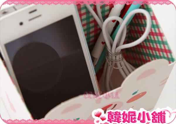 ☆韓妮小舖☆【HC0611】熊熊笑臉 桌上整理盒 收納盒 紙盒筆筒 置物盒 筆筒