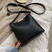 高級感包包休閒女包新款2020韓版時尚質感百搭單肩斜挎水桶包