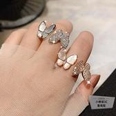 蝴蝶開口食指戒指韓版指環女戒指【小檸檬3C】