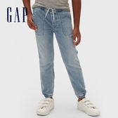 Gap男童 棉質舒適鬆緊牛仔褲 536565-淺色水洗