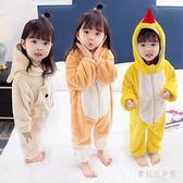 兒童寶寶連體衣 秋冬外穿棉質男女法蘭絨防踢睡衣 BF16738『寶貝兒童裝』