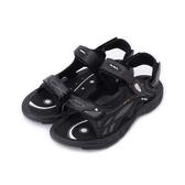 皮爾卡登 磁扣排水運動涼鞋 黑灰 男鞋 鞋全家福