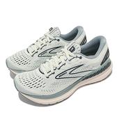 Brooks 慢跑鞋 Glycerin GTS 19 女鞋 甘油 緩震 支撐 灰 藍 【ACS】 1203441B317
