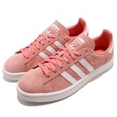 adidas 休閒鞋 Campus W 粉紅 白 麂皮 女鞋 經典款 百搭款 運動鞋【ACS】 B41939
