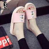 歐美時尚拖鞋女夏季韓版外穿家居室內洗澡浴室防滑涼拖鞋 【販衣小築】
