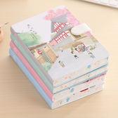 櫻花手賬本日式磁扣創意簡約小清新彩頁日記手帳記事筆記本子加厚