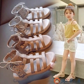 女童涼鞋兒童鏤空公主鞋時尚軟底露趾羅馬涼鞋夏季【淘夢屋】