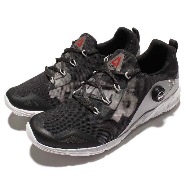 Reebok 慢跑鞋 Zpump Fusion 2.0 2代 充氣設計 運動 路跑 黑灰 女鞋【PUMP306】 V72554