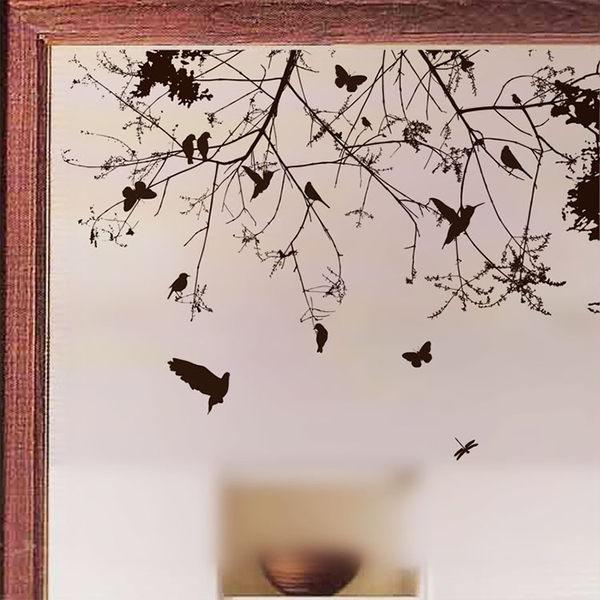 壁貼 枝條與鳥 居家裝飾牆壁貼紙《生活美學》
