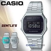 CASIO 卡西歐 手錶專賣店 A168WEM-1D 復古經典電子男錶 不鏽鋼錶帶 黑色錶面 生活防水 碼錶功能