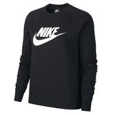 Nike SPORTSWEAR ESSENTIAL [BV4113-010] 女 休閒 長袖 上衣 純棉 大學T 黑