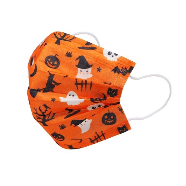 【3期零利率】預購 RM-C110 一次性防護橘色妖怪口罩 大童款 50入/包 3層過濾 熔噴布 (非醫療)