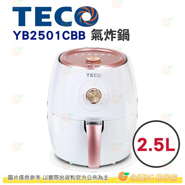東元 TECO YB2501CBB 氣炸鍋 2.5L 公司貨 多功能 油切 防燙外殼 少油更健康 1100W 200度