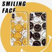 蘋果 iPhone XS MAX XR iPhoneX i8 Plus i7 Plus 滿版笑臉殼 手機殼 全包邊 軟殼 彩繪 保護殼