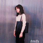 韓版女包新款潮簡約百搭手提包學生書包托特包休閒單肩大包包  麥琪精品屋
