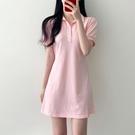 襯衫洋裝 韓國夏季復古氣質小個子連身裙收腰顯瘦襯衫裙A字短裙女-Ballet朵朵